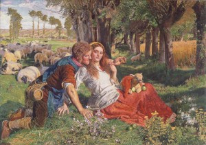 William Holman Hunt. The Hireling Shepherd