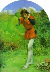 John Everett Millais. Ferdinand Lured by Ariel.