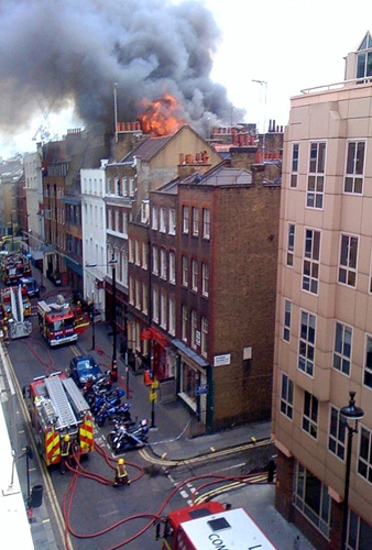 Soho Dean Street fire - Evening Standard