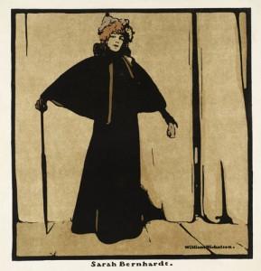 Sarah Bernhardt 1899 by Sir William Nicholson 1872-1949