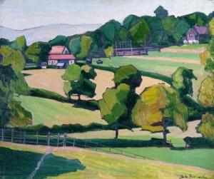Cottages at Cuckfield, Sussex. 1914 (Kelvingrove Art Gallery)