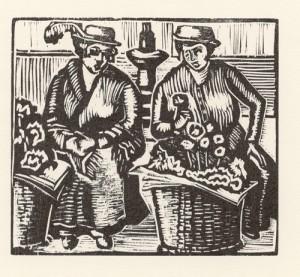 Flower Girls. ca.1914