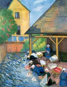 Le Lavoir, St Nicholas-du-Pelem. 1931-32 (Worthing Museum & Art Gallery)