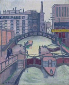 The Canal at Camden Town. 1913 (Fitzwilliam Museum)