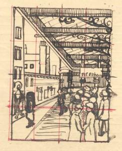 Theatre Pit Entrance. ca.1922