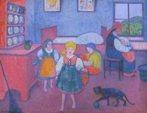 Polish Interior. 1909 (Southampton City Art Gallery)