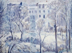 Snow in Russell Square. ca.1937 (Birmingham Museums Trust)