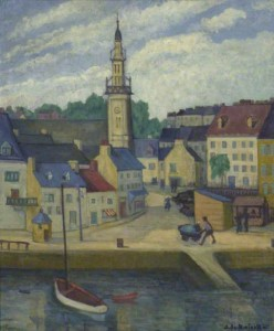 The Quay at Binic, Brittany. 1935 (Ashmolean)